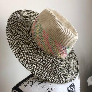 NWOT August Hat Co. Black Tan Sun Hat